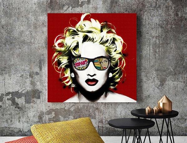 Pop Art prints and portraits & photos on canvas and panels